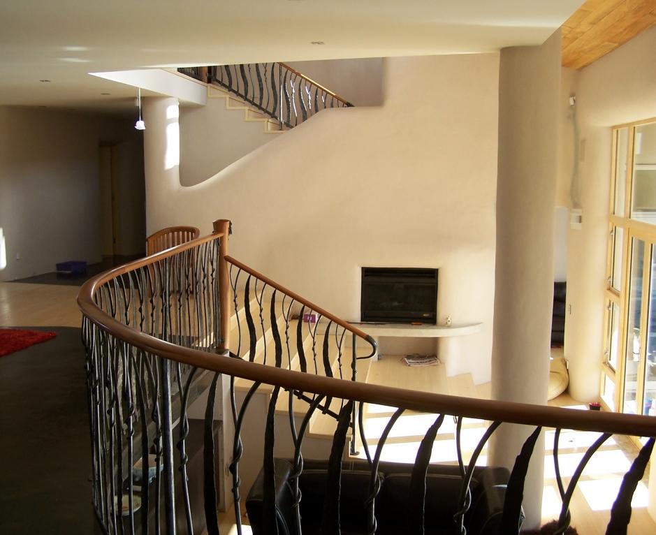 Straw Bale House balustrade